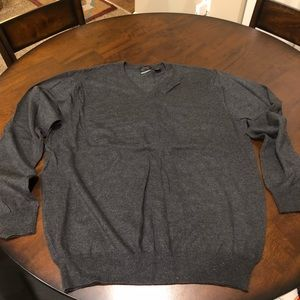 Greg Norman Grey Silk Cashmere Blend Sweater M